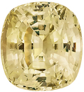 Very Bright, Soft Yellow Unheated Sapphire Natural Gemstone for SALE, Antique Cushion Cut, 9.99 carats