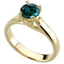 Unique Elegant Woven Prong Gold Ring set with Real GEM 0.55 ct  4.80 mmAlexandrite & Diamond Accents