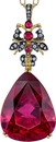 Very Unique 48 carat Fine Pink Tourmaline Hand Made Pendant With Pink Spinel & Diamond Accents in 18kt Gold