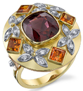 Majestic Red Spinel Ring in 18 karat Yellow, White & Rose Gold - Hand Crafted Ring - SOLD