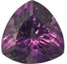 Rich Color in Trillion Genuine Amethyst Loose Gem, Perfect Brilliance in German Cut in 19.7 mm, 25.01 carats