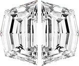 PAIR OF CADI CUT DIAMONDS Step Cut F Color  VS Clarity 4.30 x 2.70 mm to 6.20 x 3.50 mm Sizes