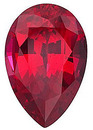Grade GEM CHATHAM CREATED RUBY Pear Cut Gems