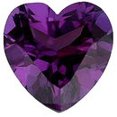 Imitation Alexandrite Heart Cut Gems