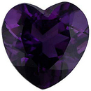 Imitation Amethyst Heart Cut Gems