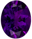 Imitation Amethyst Oval Cut Gems