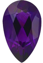 Imitation Amethyst Pear Cut Gems