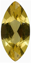 Imitation Citrine Marquise Cut Gems