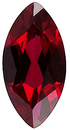 Imitation Red Garnet Marquise Cut Gems