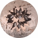 Genuine Morganite Loose Gem in Round Cut, Light Orangy Pink, 11.01 mm, 5.03 Carats
