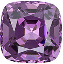 So Pretty Purple Color Spinel Loose Gem in Cushion Cut 7.6 x 7.6 mm, 2.58 carats