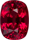 No Heat  Fiery Red Mozambique Ruby Loose Gem in Cushion Cut, 7.1 x 5.2 mm, 1.46 Carats - With GRS Certficate - SOLD