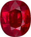 Vivid Red Loose Ruby Gemstone, Eye Clean & Lively in Cushion Cut, Low Price in 7.6 x 6.5 mm, 2.19 carats