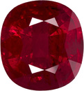 GIA Certified Impressive Ruby in Cushion Cut, Rich Red Color in 9.0 x 8.5 mm, 4.05 carats