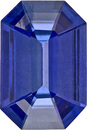 Calibrated Rich Blue Color Sapphire Gem in Emerald Cut in 5.9 x 4 mm, 0.50 carats