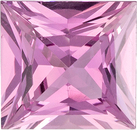 Untreated Pure Pink GIA Sapphire Gem in Princess Cut, 5.62 x 3.07 mm, 0.81 carats