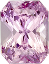 GIA No Heat Light Baby Pink Sapphire Gem in Radiant Cut, 8.14 x 6.22 x 4.89 mm, 2.33 carats