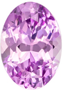 No Heat Icy Light Pink Sapphire Gem in Oval Cut, GIA Certed, 8.3 x 5.81 x 4.42 mm, 1.79 carats