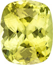 Lemony Lime Chrysoberyl Loose Stone Cushion Cut, Super Bright and Clean Gem in 9.8 x 8 mm, 3.31 Carats