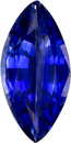 Nice Looking Sapphire Loose Gem in Marquise Cut, Intense Rich Blue, 7.8 x 3.9 mm, 0.62 Carats