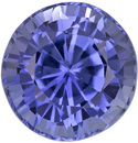 Sparkly & Bright Sapphire Loose Gem in Round Cut, Cornflower Blue, 5.9 mm, 1.22 Carats
