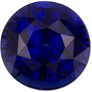 Excellent Bright Sapphire Loose Gem in Round Cut, Vivid Rich Blue, 5.9 mm, 1.15 Carats