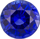 Impressive Sapphire Loose Gem in Round Cut, Intense Rich Blue, 5.9 mm, 0.95 Carats
