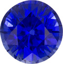Gorgeous Sapphire Loose Gem in Round Cut, Vivid Intense Blue, 5.3 mm, 0.86 Carats