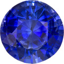Optimum Sapphire Loose Gem in Round Cut, Medium Rich Blue, 5.6 mm, 0.82 Carats