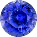 Very Pretty Sapphire Loose Gem in Round Cut, Rich Vivid Blue, 4.3 mm, 0.48 Carats