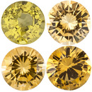 YELLOW SAPPHIRE Round Cut Gems - Calibrated