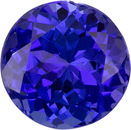 Vivid Color in Round Tanzanite Gemstone, Perfect Ring Stone in 5.6 mm, 0.95 carats