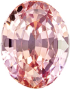 Padparadscha Gem Sapphire Gem in Oval Cut, Unheated GIA Certificate, 6.98 x 5.41 x 4.02 mm, 1.30 carats