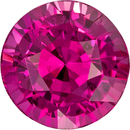 Stunning Color in Pink Sapphire Round Shape Gem in 7.6 mm, 2.75 carats