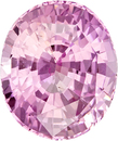 Super Deal on Pink Sapphire Gem in Oval Cut, GIA, Light Bright Pink in 9.23 x 7.76 x 5.28 mm, 3.04 carats