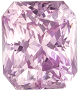 Light Baby Pink Sapphire GIA Certed Gem in Radiant Cut, 7.69 x 6.56 x 5.07 mm, 2.54 carats