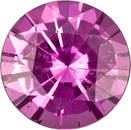 Pure Pink Sapphire Gem in Round Cut, 5.9 mm, 0.82 carats