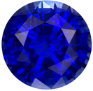 Rich Super Gem Blue Sapphire Gem in Round Cut, 7.2 mm, 1.81 carats