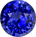 Engagement Ring Blue Sapphire Gemstone in Round Cut, Vivid Blue Color in 6.6 mm, 1.45 carats