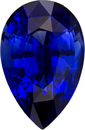 Pear Cut Rich Blue Sapphire Gemstone, Stunning Color, 10 x 6.6 mm, 2.48 carats