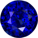 Round Cut Vivid Blue Loose Sapphire Engagement Ring Gemstone, 8.5 mm, 2.62 carats