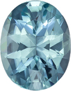 Soft Teal Blue Color Tourmaline Gem in Oval Cut, 10.2 x 8.1 mm, 2.50 carats