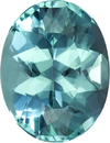 Stunning Neon Like Teal Tourmaline Gem in Oval Cut, 9.8 x 7.5 mm, 2.35 carats