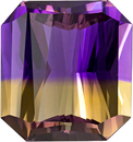 Ametrine Vivid Purple & Yellow Gem in Emerald Cut, 14.8 x 13.9 mm, 13.15 carats