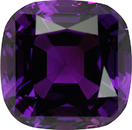 Jumbo Special Antique Cushion Step Cut Genuine Amethyst, 23mm, 54.91 carats