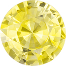 Beautiful Round Cut Rich Yellow Sapphire Gem in Pure Rich Yellow Color, GIA Cert, 8.14 x 8.26 x 4.43 mm, 2.08 carats