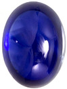 Gemmy Blue Cabochon Loose Sapphire Gem in Cabochon Cut, Rich Pure Blue Color in 9.1 x 6.7 mm, 3.00 carats