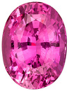 Exceptionally Rich Pink Sapphire Genuine Gem with Great Clarity from Ceylon, Oval Cut, 3.27 carats