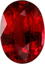 Unheated Super Gem Loose Oval Ruby Gemstone, Rich Color, Super Clean, 1.52 carats, 7.90 x 6.28 mm with AIGS Cert.