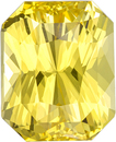 No Heat Vivid Yellow Sapphire Gem in Radiant Cut,  GIA Certified in 10.45 x 8.51 x 6.56 mm, 5.74 carats